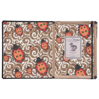 whimsical lady bug pattern iPad case