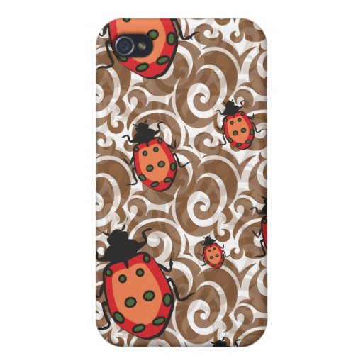 whimsical lady bug pattern iPhone 4/4S cover