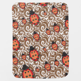 whimsical lady bug pattern receiving blankets