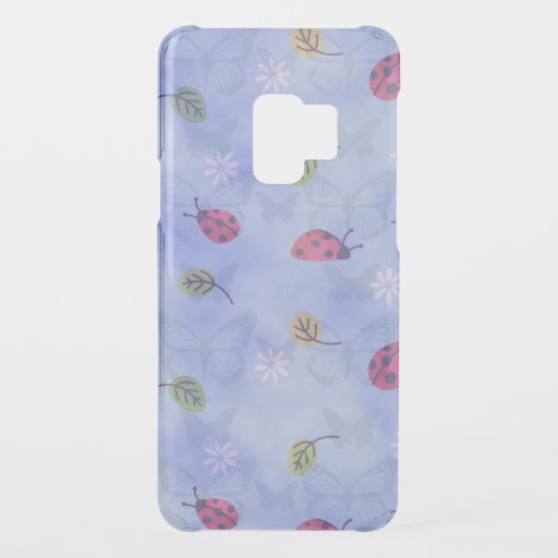 Whimsical Ladybirds and Butterflies on Blue Uncommon Samsung Galaxy S9 Case