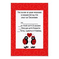 Whimsical Ladybug Wedding RSVP Card (<em>$2.75</em>)