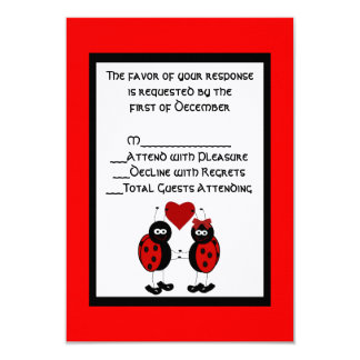 Whimsical Ladybug Wedding RSVP Card