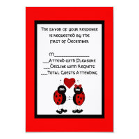 Whimsical Ladybug Wedding RSVP Card Custom Invite (<em>$2.75</em>)