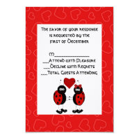 Whimsical Ladybug Wedding RSVP Card Invites (<em>$2.75</em>)