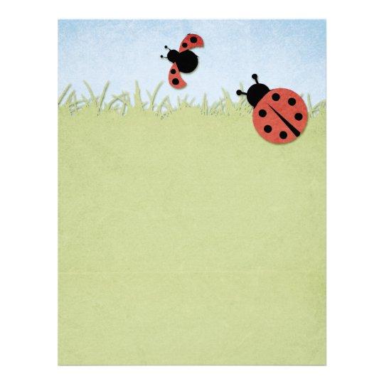Whimsical Ladybugs Letterhead