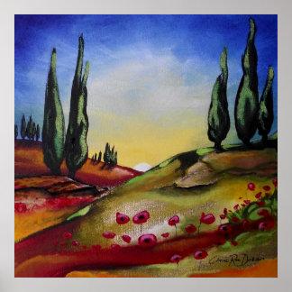 Whimsical Landscape Poster
