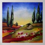 Whimsical Landscape Print