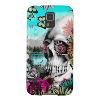 Whimsical Landscape skull with florals Galaxy S5 Cover