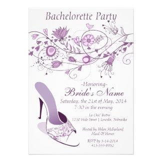 Whimsical Lavender Bachelorette Party 1 Custom Announcement