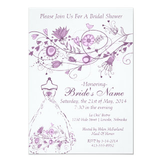 Whimsical Lavender Bridal Shower Invite 1