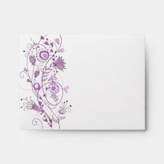Whimsical Lavender Wedding Customized Envelope 1