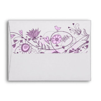 Whimsical Lavender Wedding Customized Envelope 2