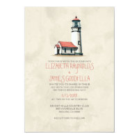 Whimsical Lighthouse Wedding Invitations