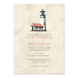 Whimsical Lighthouse Wedding Invitations