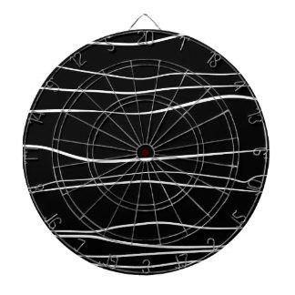 Whimsical Lines (Black) Dart Boards