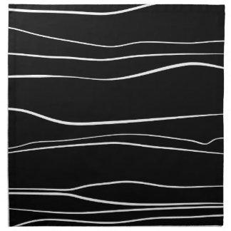 Whimsical Lines (Black) Napkin