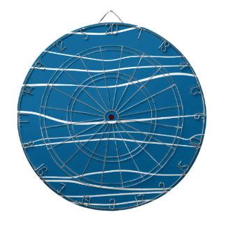 Whimsical Lines (Blue) Dart Board