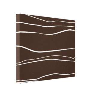 Whimsical Lines (Brown) Canvas Print