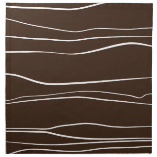 Whimsical Lines (Brown) Cloth Napkin