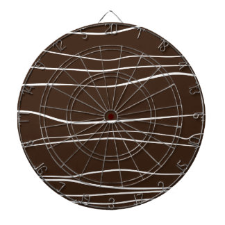 Whimsical Lines (Brown) Dartboards