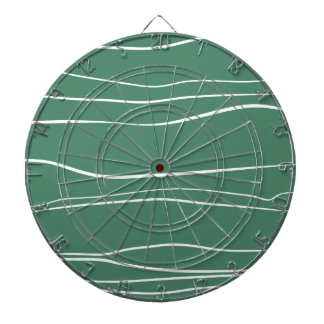 Whimsical Lines (Green) Dart Boards