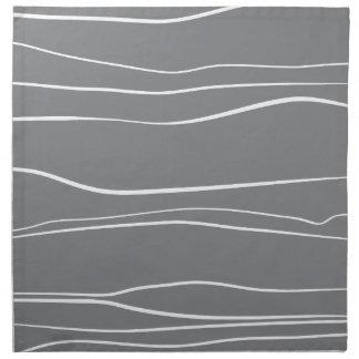 Whimsical Lines (Grey) Napkin