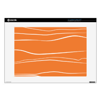 Whimsical Lines (Orange) Laptop Decals