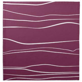 Whimsical Lines (Purple) Cloth Napkin