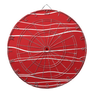 Whimsical Lines (Red) Dartboard