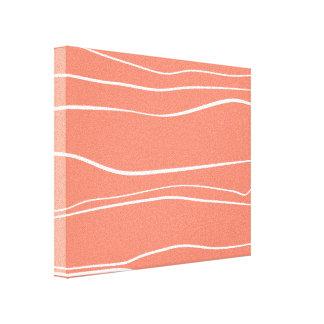 Whimsical Lines (Salmon) Canvas Print