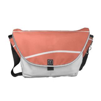 Whimsical Lines (Salmon) Messenger Bag