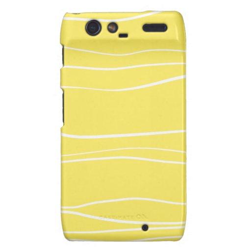 Whimsical Lines (Yellow) Motorola Droid RAZR Covers