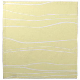 Whimsical Lines (Yellow) Cloth Napkin