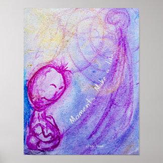 Whimsical Little Buddha Man Poster