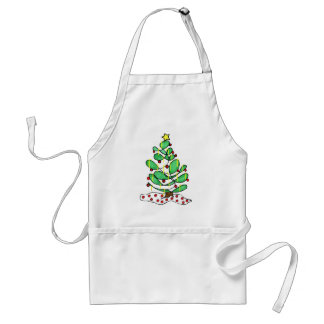 Whimsical Little Christmas Tree Adult Apron