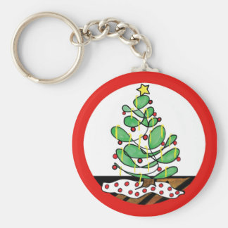 Whimsical Little Christmas Tree Keychain