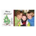 Whimsical Little Christmas Tree Photo Card