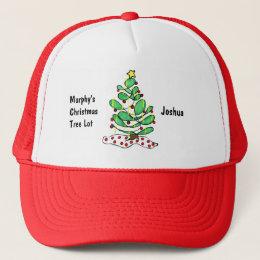 Whimsical Little Christmas Tree Trucker Hat