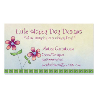 Whimsical Little Flowers Cute Business Cards