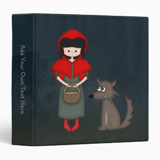 Whimsical Little Red Riding Hood Girl and Wolf Binder