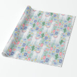 Whimsical Llama and Rainbow Wrapping Paper