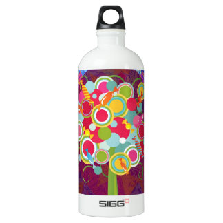 Whimsical Lollipop Candy Tree Colorful Abstract Un Aluminum Water Bottle