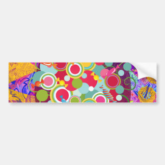 Whimsical Lollipop Candy Tree Colorful Abstract Un Bumper Sticker