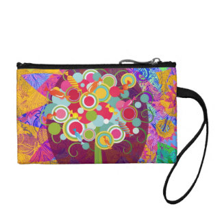 Whimsical Lollipop Candy Tree Colorful Abstract Un Change Purse