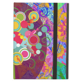 Whimsical Lollipop Candy Tree Colorful Abstract Un iPad Case