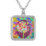 Whimsical Lollipop Candy Tree Colorful Abstract Un Custom Jewelry
