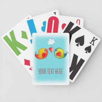 Whimsical Love Birds Playing Cards