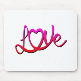 Whimsical Love Heart Mouse Pad