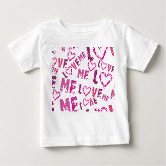 Whimsical Love Me Print Design Baby T-Shirt