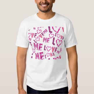 Whimsical Love Me Print Design T-Shirt